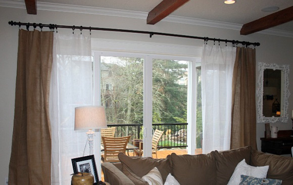 Ideas for Sliding Patio Door Curtains 580 x 366