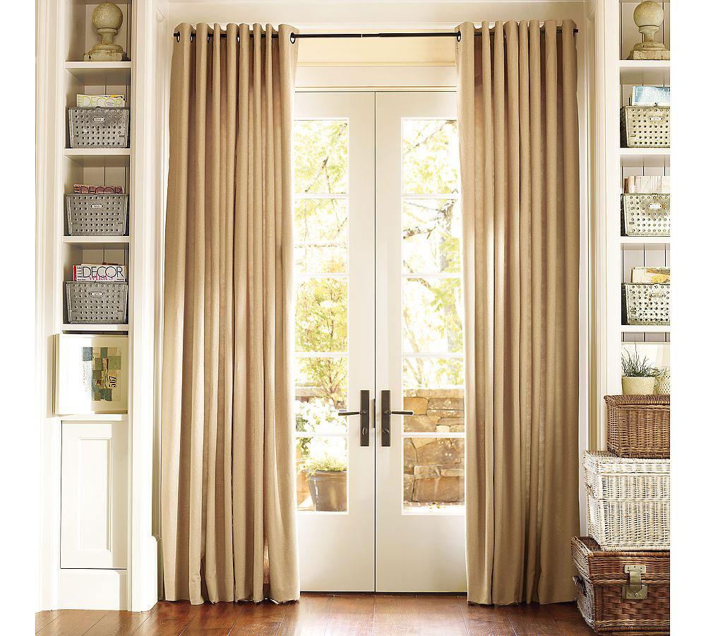 Curtains for sliding doors with blinds - Curtain options for sliding glass doors ...